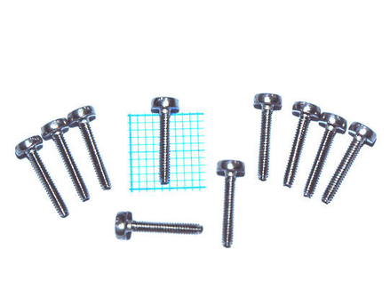 Packet of Platescrews M1.6 x 10 (10 pieces)