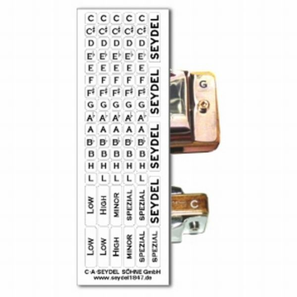 Seydel Key Label Set Blues