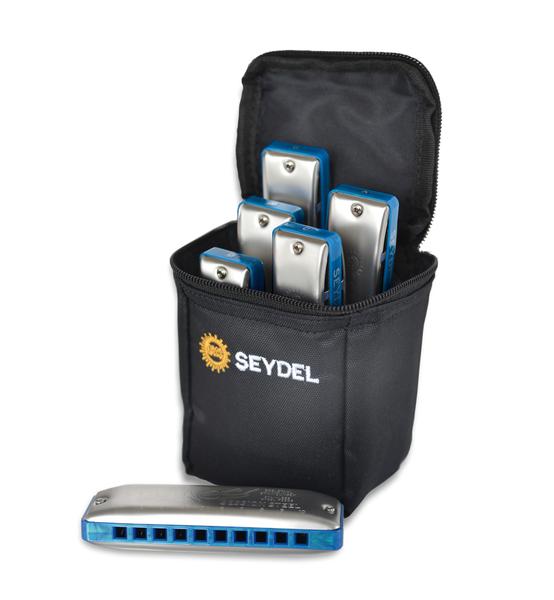 Seydel Session STEEL 6 Harmonica Set Summer Ed.Yellow Case Choice SAVE $125!