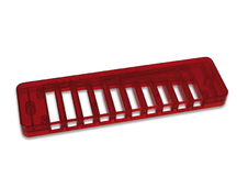 Comb Plastic carmine red Blues Session Steel