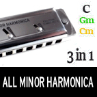 Innovation - the ALL MINOR HARMONICA