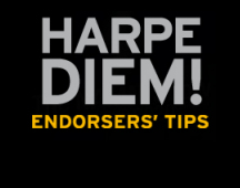 HARPE DIEM! Endorsers' Tips